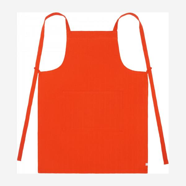 Apron made of cotton, red