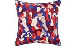 Embroidered printed cushion made of cotton 45x45cm - Design by Floriane Jacques