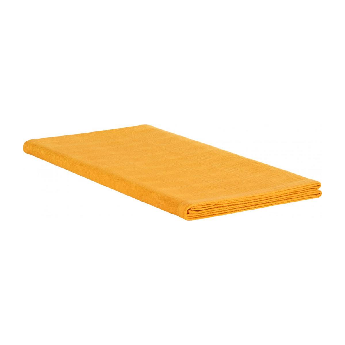 Table runner made of cotton, yellow mustard n°1