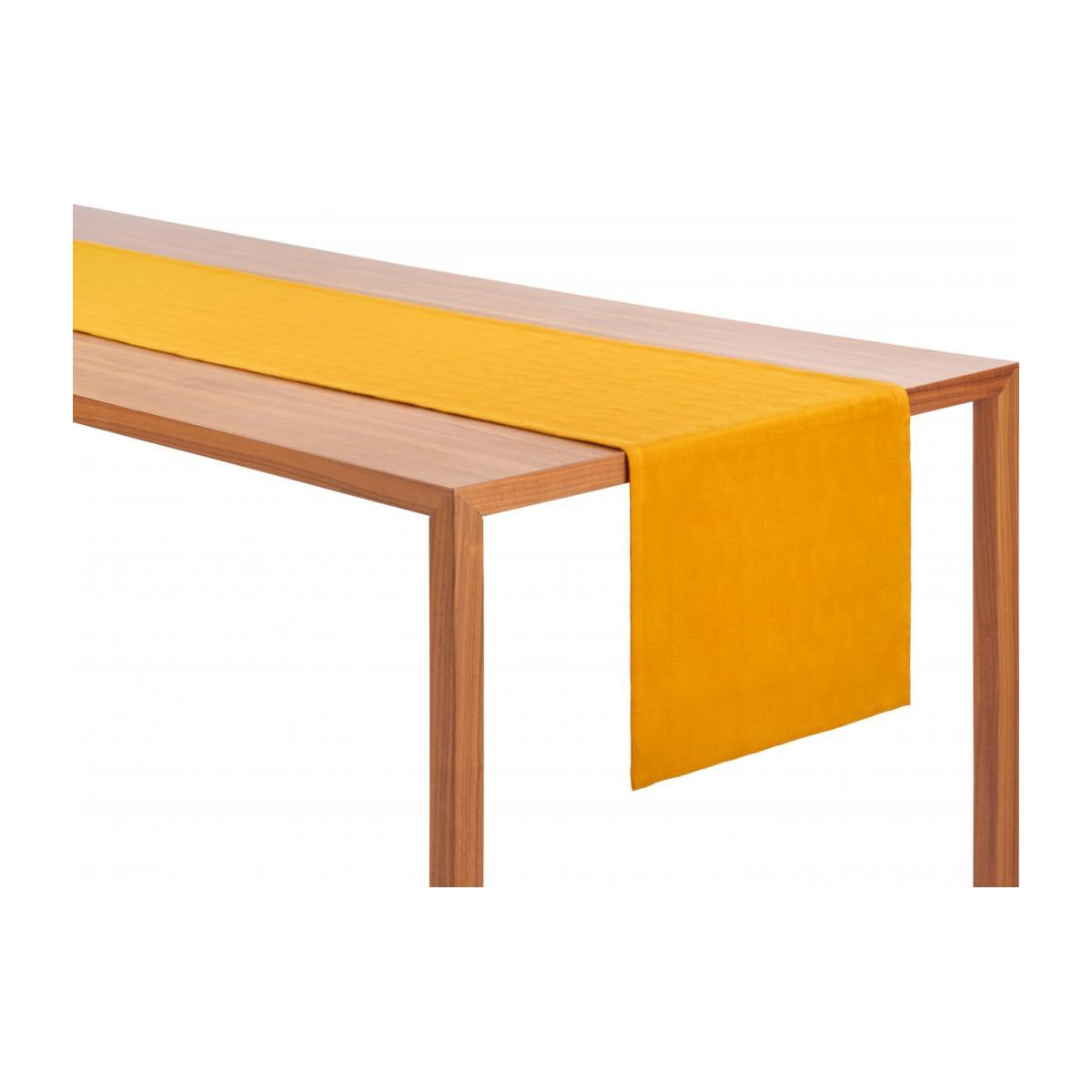 Chemin de table 200x40cm en coton jaune moutarde n°3