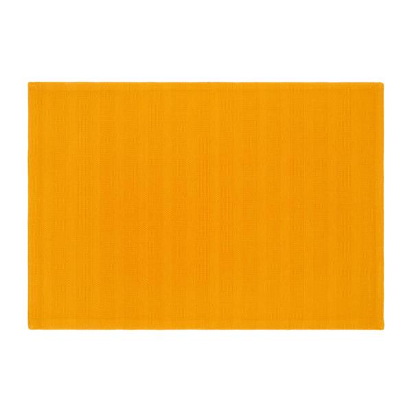 Placemat made of cotton, yellow mustard