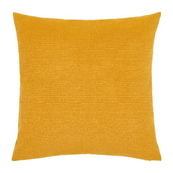 Cushion made of textured velvet 45x45cm, yellow n°3