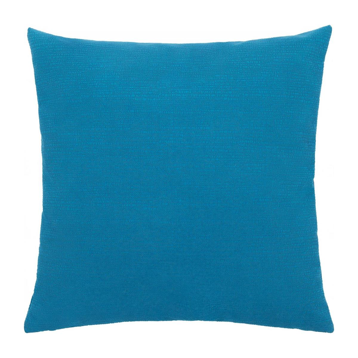 Cushion made of textured velvet 45x45cm, blue n°4