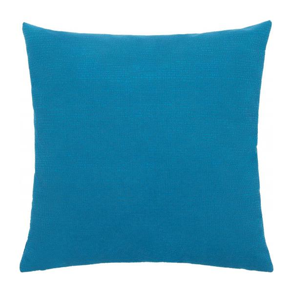 kossa coussin 45x45cm en velours textur bleu habitat. Black Bedroom Furniture Sets. Home Design Ideas