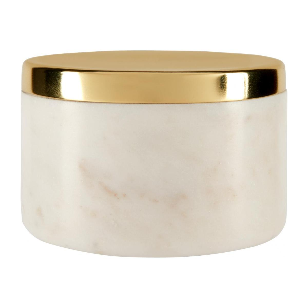 Box made of marble, golden n°1