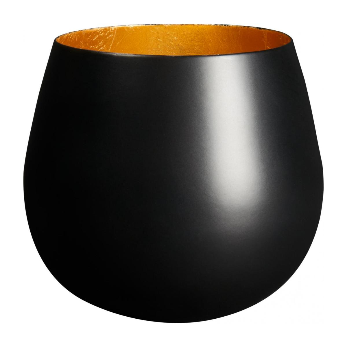 Candle holder made of metal, black and golden n°1