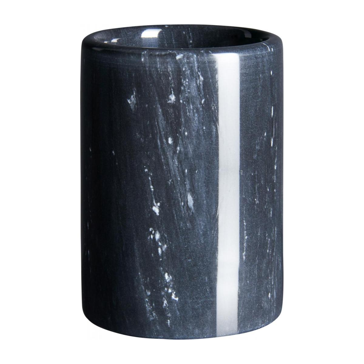 Bathroom tumbler made of marble, black n°1
