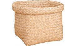 Square basket made of seagrass