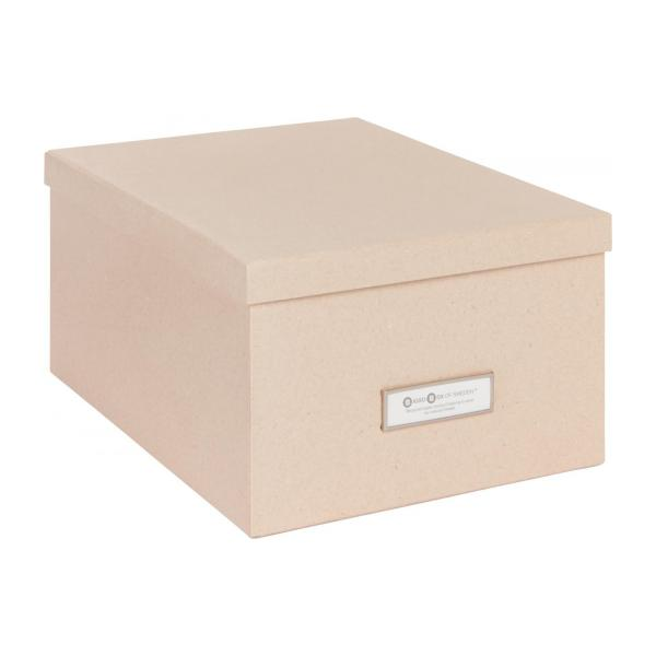 kraft bo te de rangement 47x31cm en carton habitat. Black Bedroom Furniture Sets. Home Design Ideas