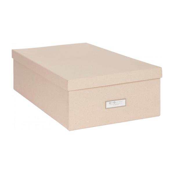 Kraft bo te de rangement kraft en carton 47x31 habitat for Boites de rangement decoratives