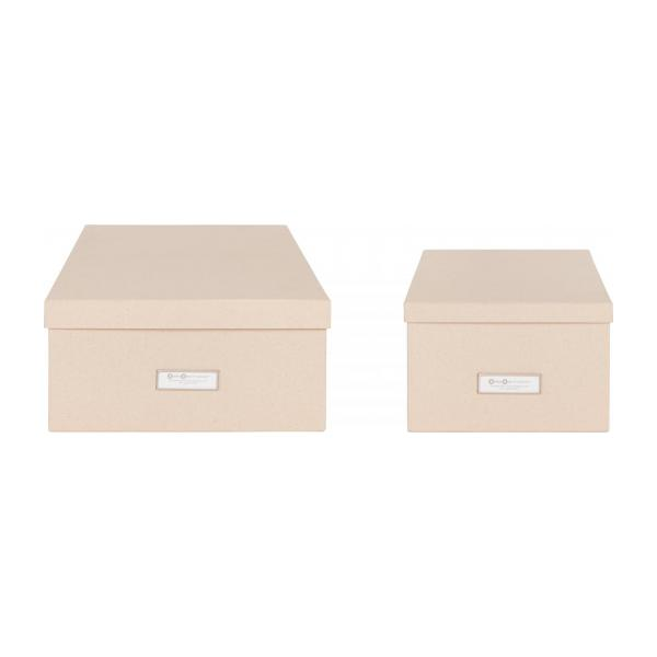 kraft bo te de rangement kraft en carton 47x31 habitat. Black Bedroom Furniture Sets. Home Design Ideas