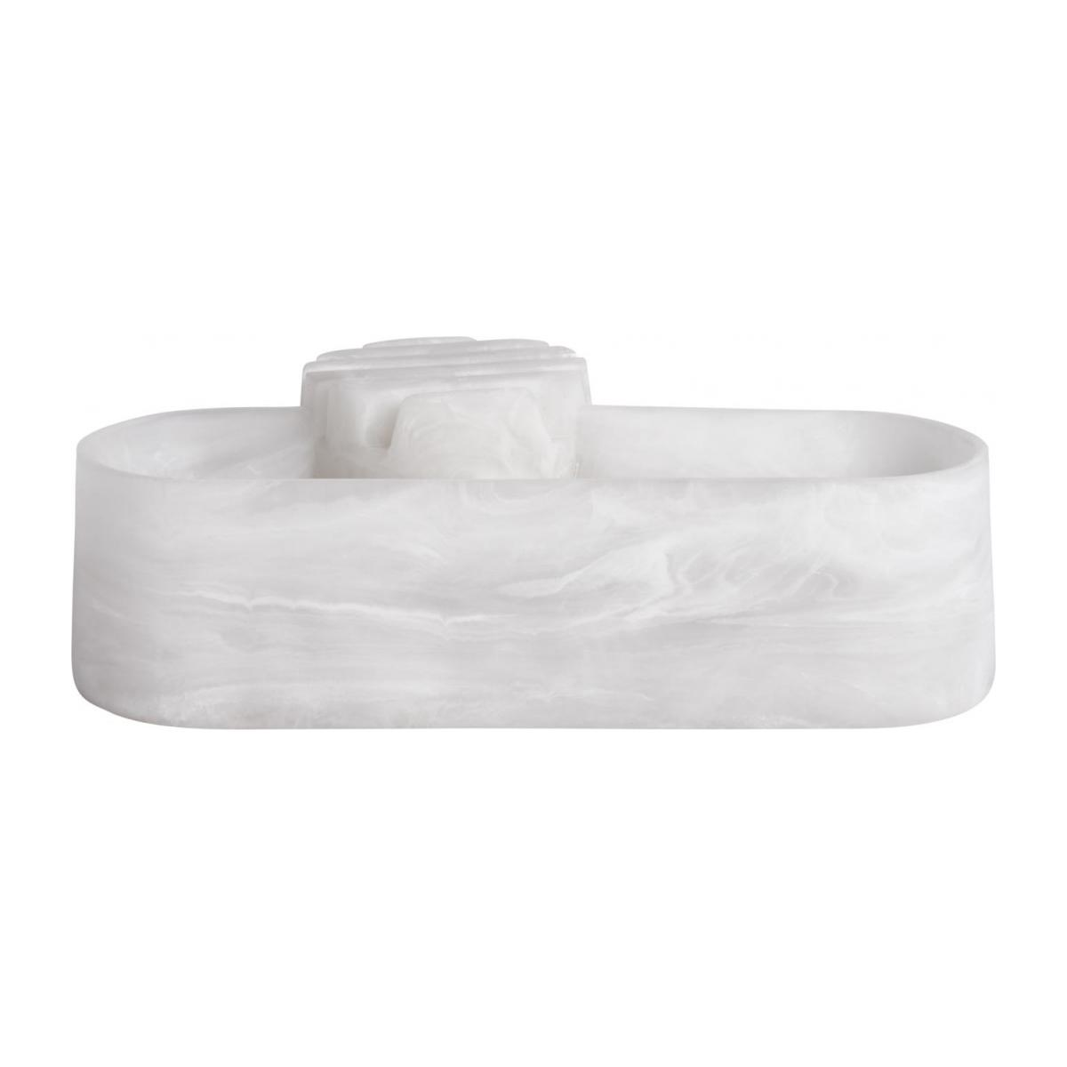 Office trinket bowl made of resin, white - Design by Ferréol Babin n°2