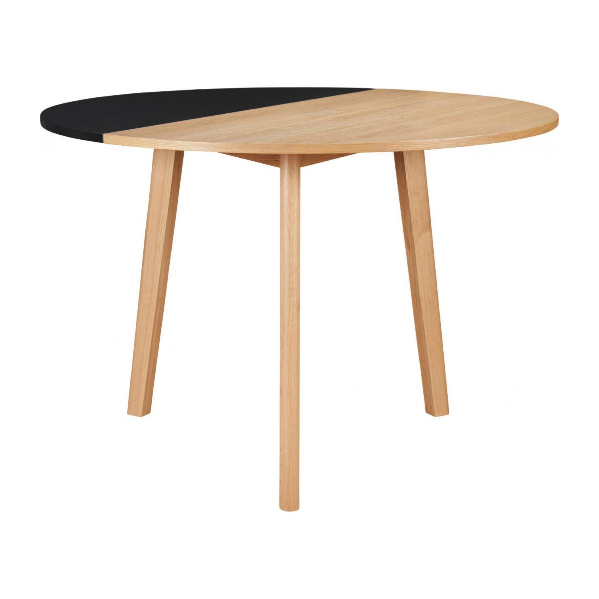 Black oak wood extending table - Design by Goncalo Campos n°1