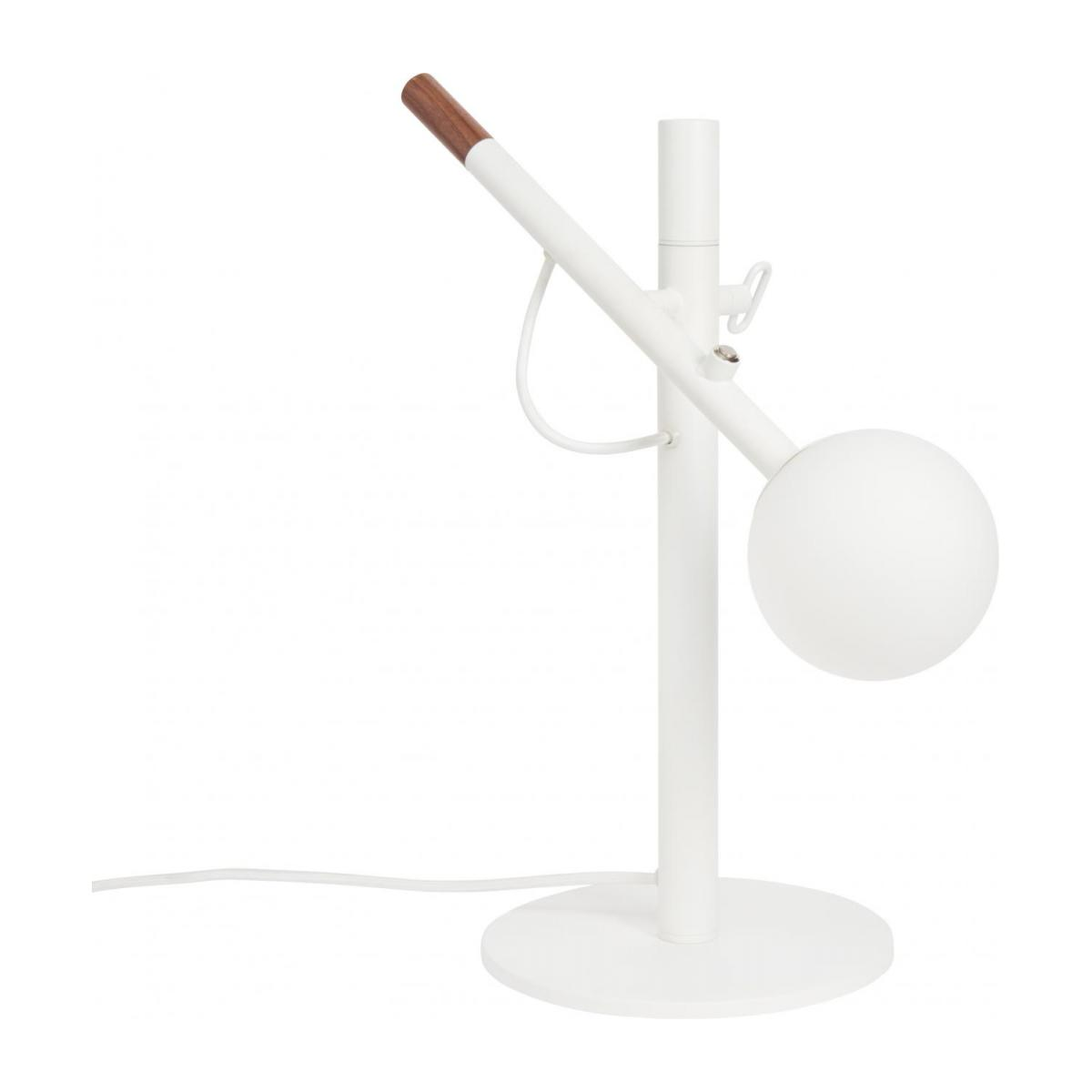 Metal and wood table lamp, white - Design by Gaston Lobet n°1