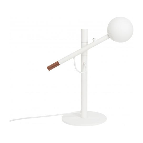 Lampe de table 40cm en fer, noyer et verre - Design by Gaston Lobet n°4