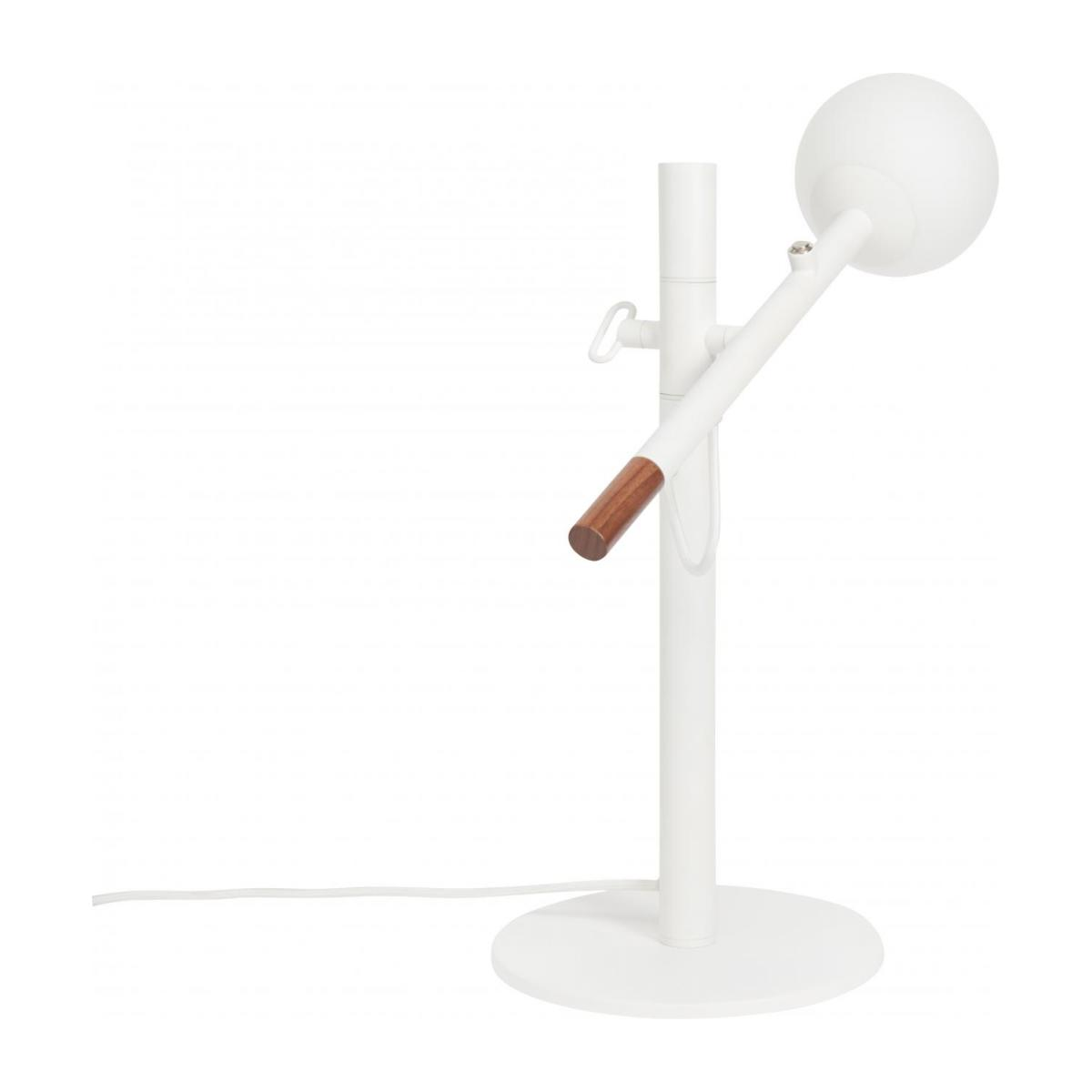 Metal and wood table lamp, white - Design by Gaston Lobet n°4