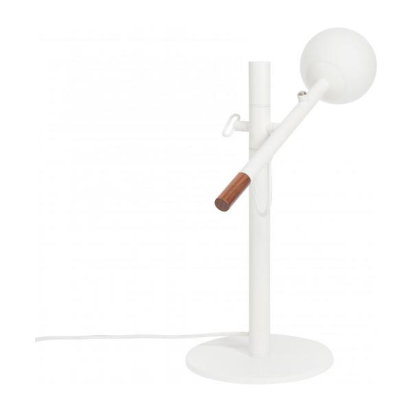 Lampe de table 40cm en fer, noyer et verre - Design by Gaston Lobet n°2
