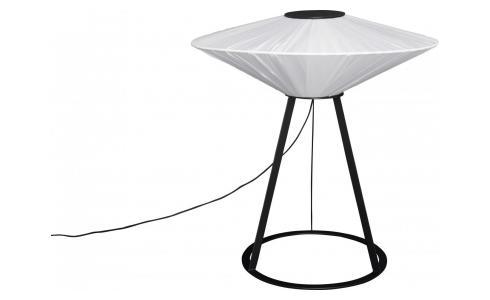 Table lamp textile shade, black and white - Design by Béatrice Durandart