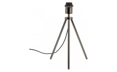Metal table lamp base tripod, black