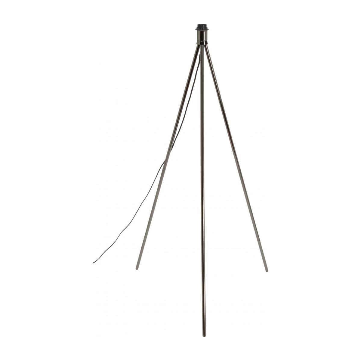 Metal floor lamp base tripod, black n°1