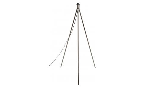 Metal floor lamp base tripod, black