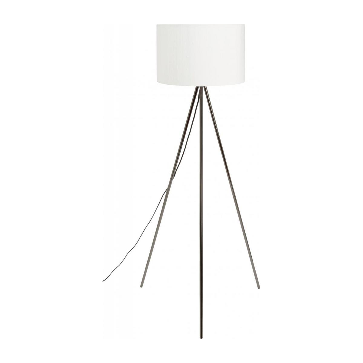 Metal floor lamp base tripod, black n°2