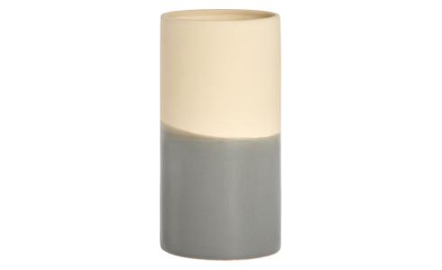 Vase made of ceramic 16cm, dark grey