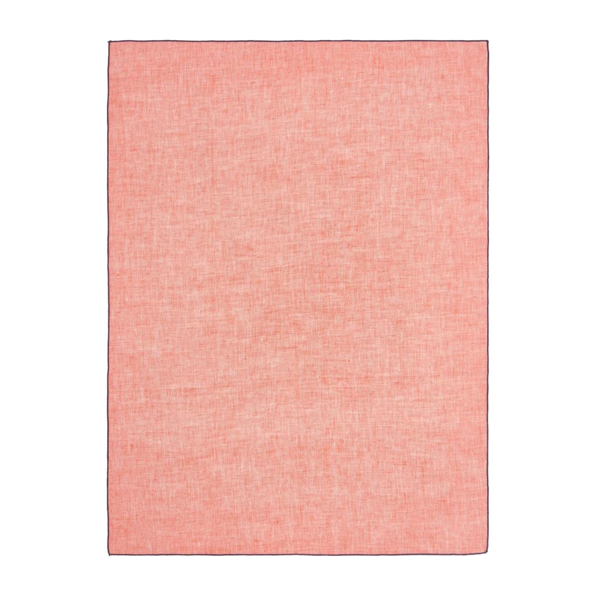 Kitchen towel 50x70cm made of flax, coral n°1