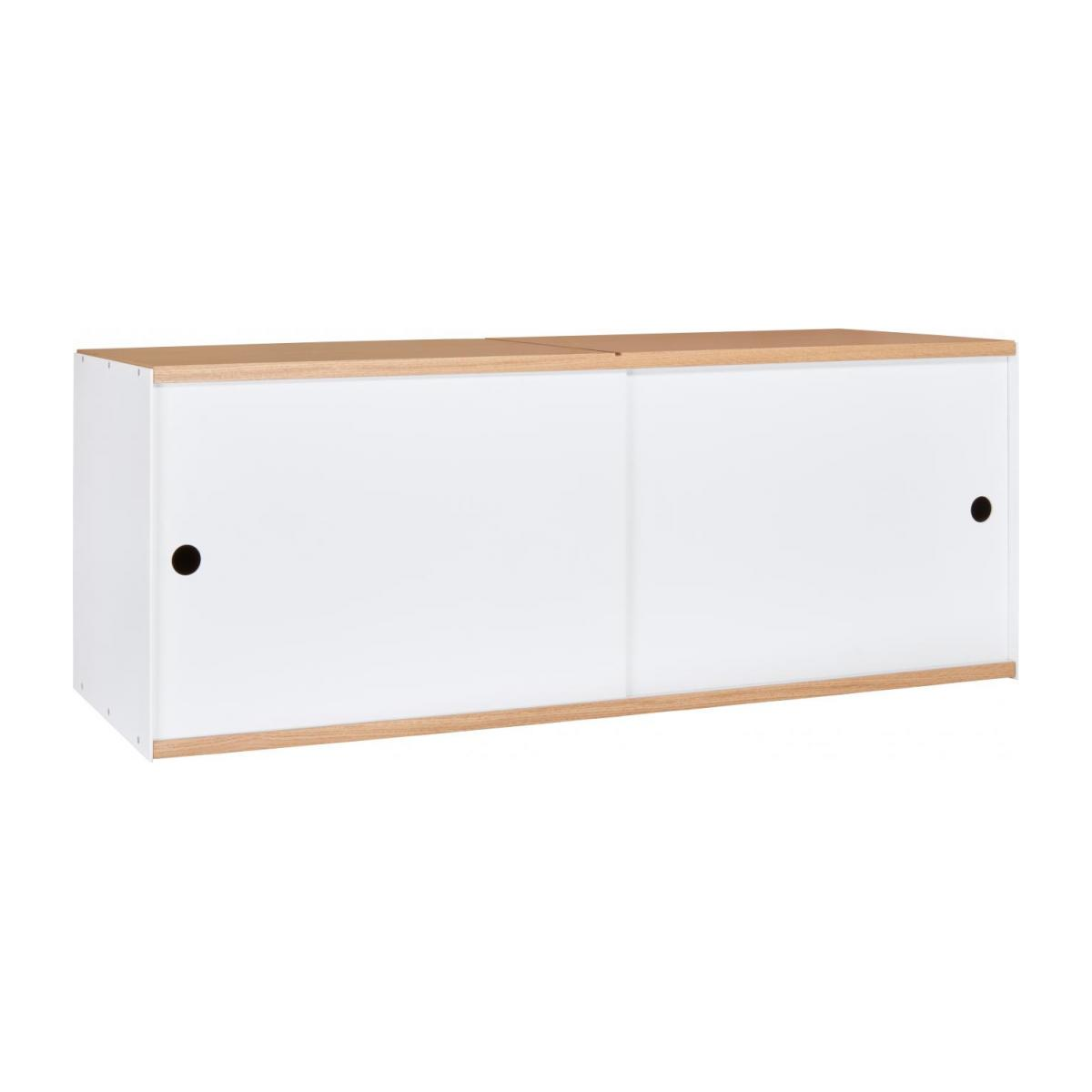 White and oak big closed modular storage rack - Design by Kasch Kasch n°1