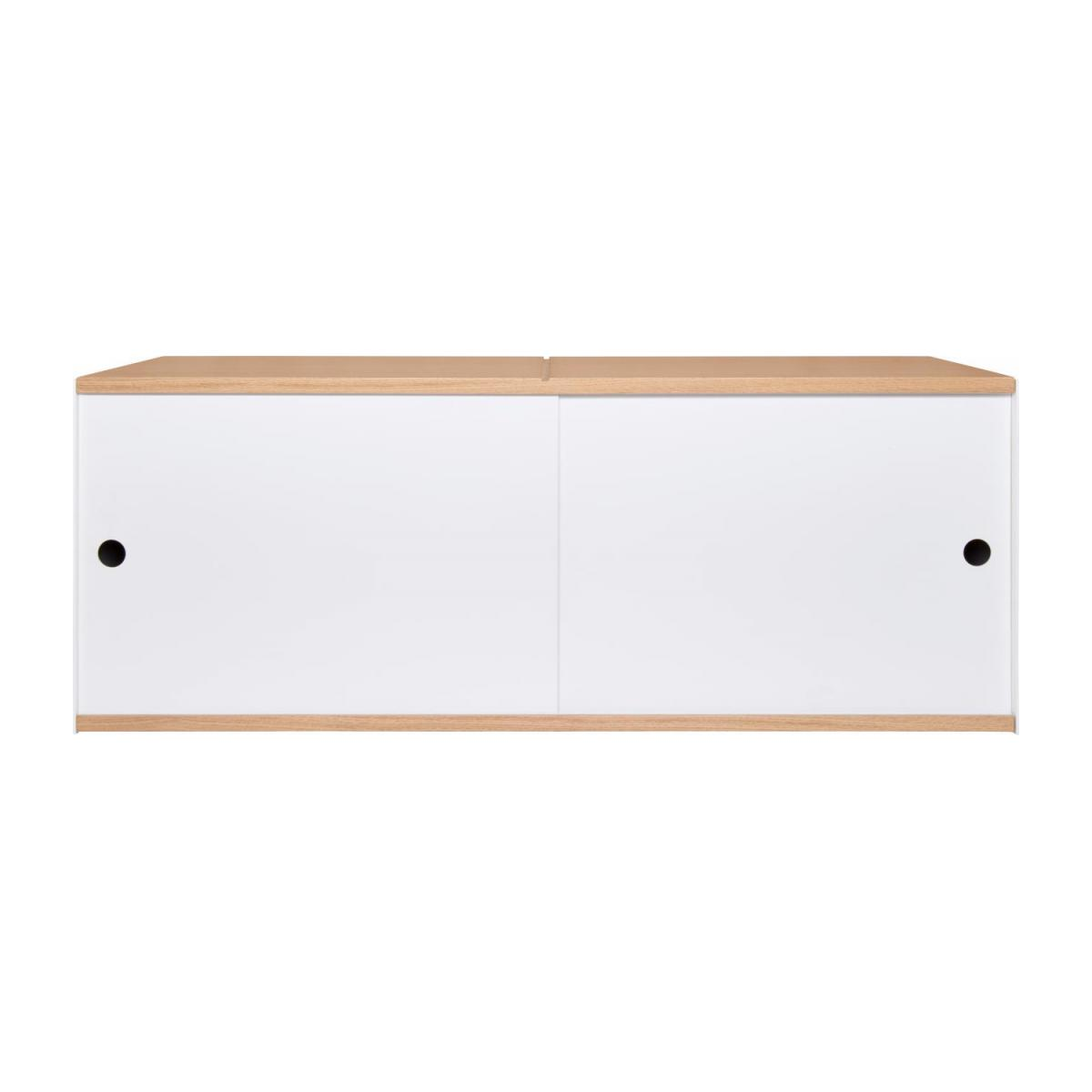 White and oak big closed modular storage rack - Design by Kasch Kasch n°3
