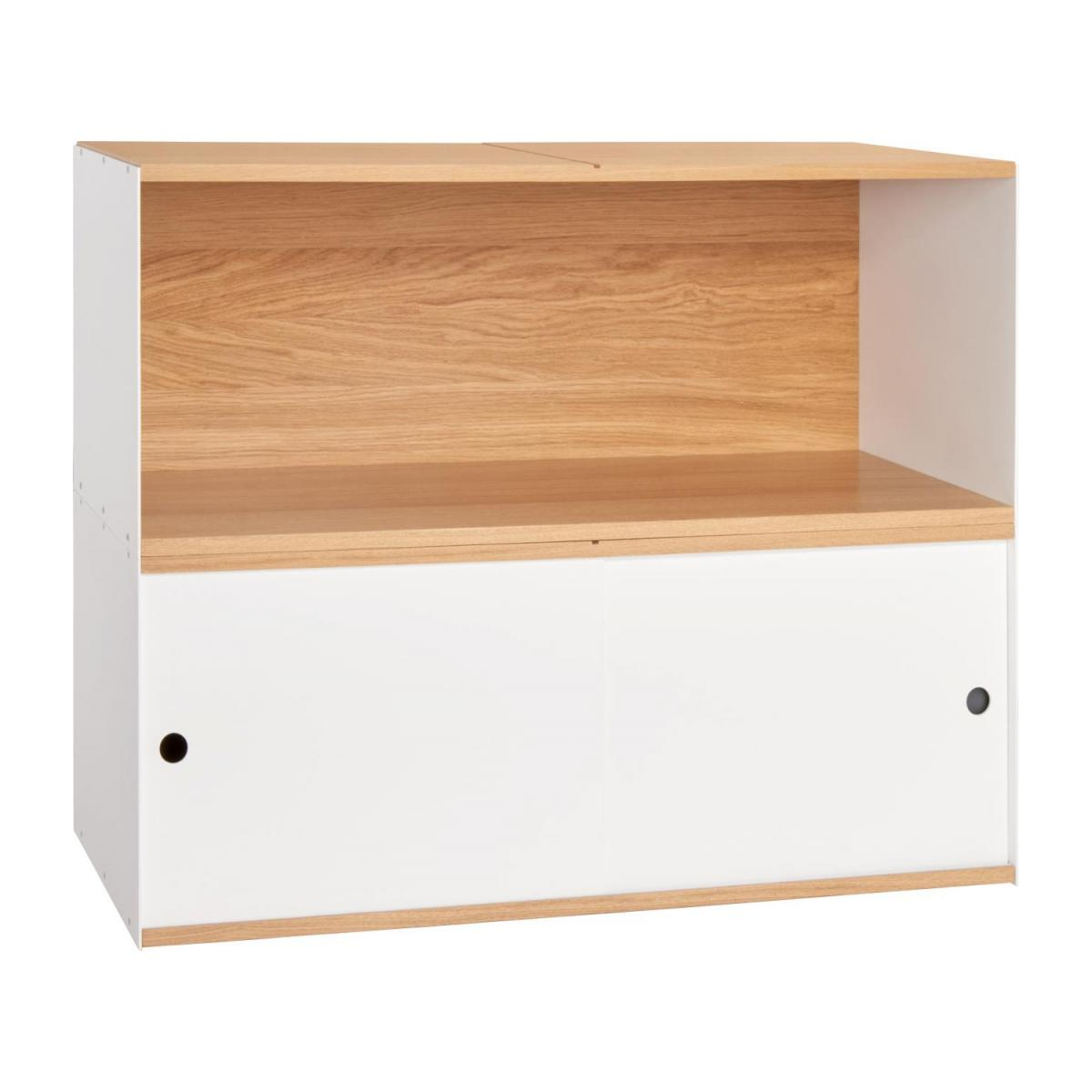 White and oak big closed modular storage rack - Design by Kasch Kasch n°9