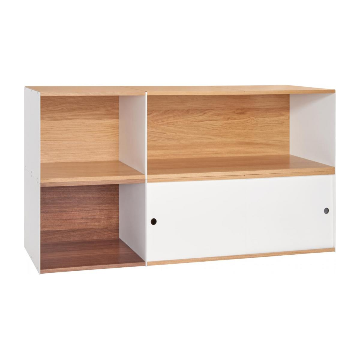 White walnut open modular storage rack - Design by Kasch Kasch n°7