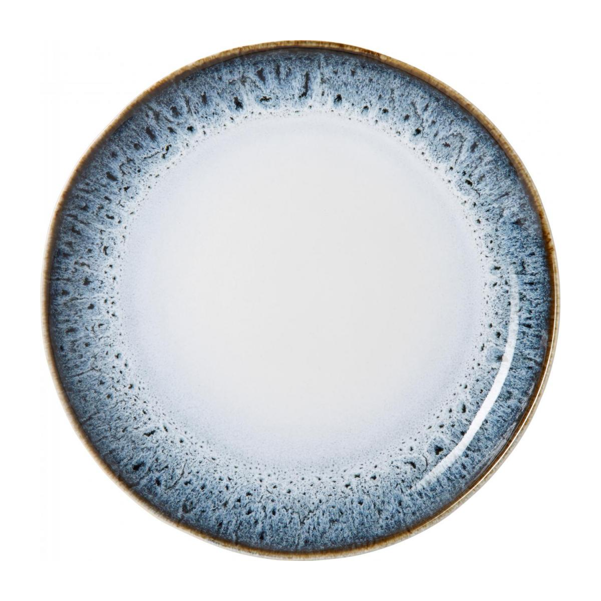 Flat plate made of sandstone 27,5cm, white and black n°1