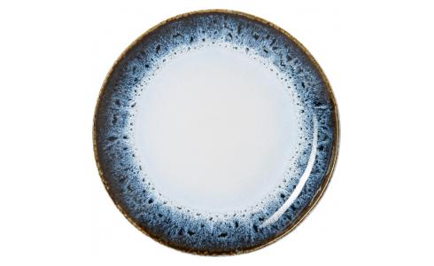 Dessert plate made of sandstone 21cm, white and black