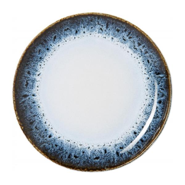 Dessert plate made of sandstone 21cm, white and black n°1
