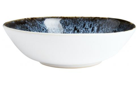Soup plate made of sandstone 17cm, white and black
