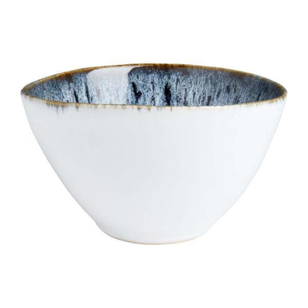 Grand Bowl made of sandstone 15cm, white and black n°1
