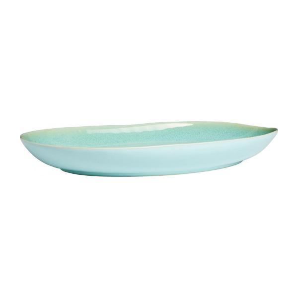 Plat de service rond en grès 43cm celadon n°1