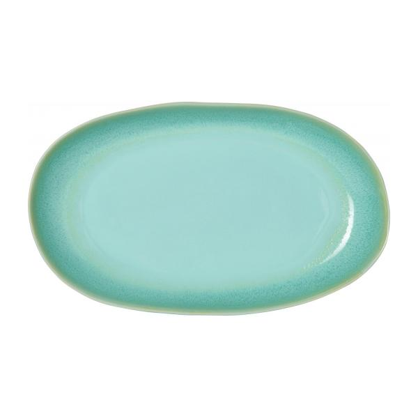 Plat de service rond en grès 43cm celadon n°3