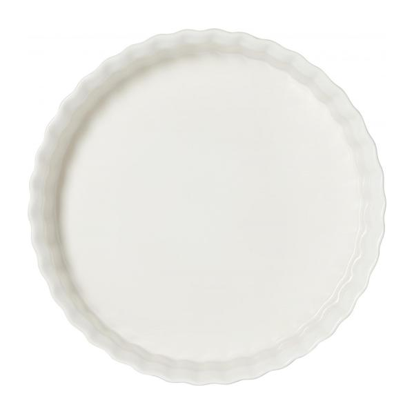 Pie dish made of faience 28cm, white n°2