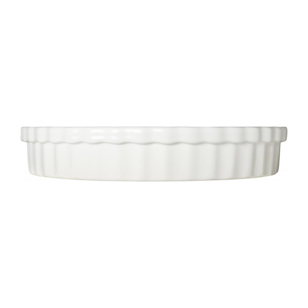 Pie dish made of faience 28cm, white n°3