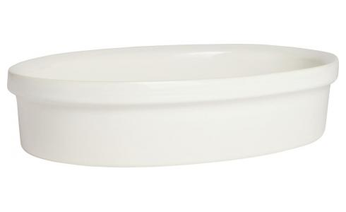 Oven dish made of faience 27x18cm, white
