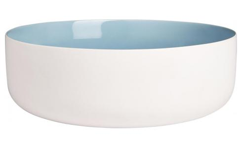 Salad bowl made of sandstone, white and blue