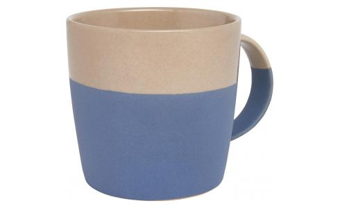 Mug made of porcelain, blue