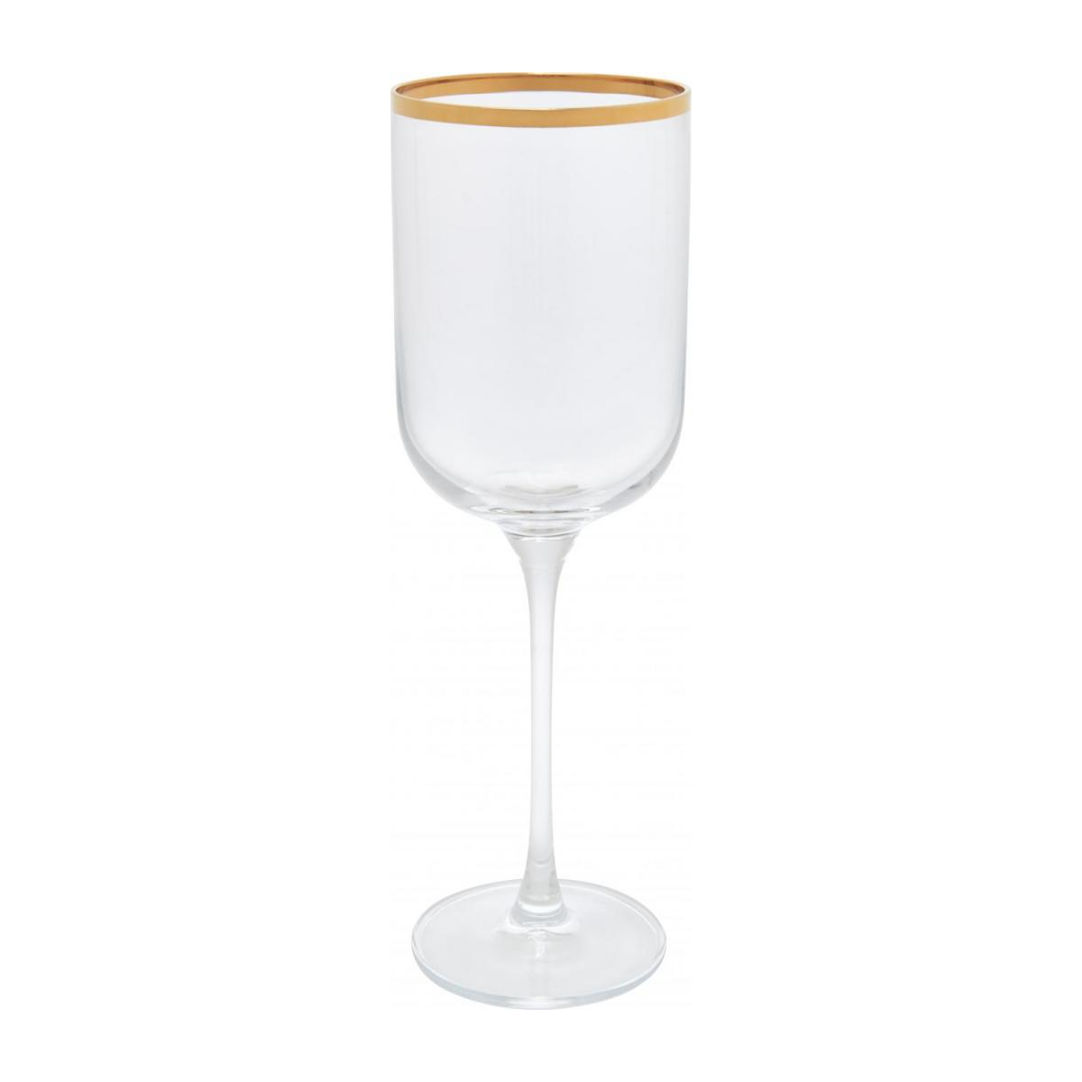 Red wine glass, with gold edge n°1