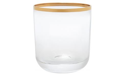 Tumbler made of glass bas, with gold edge
