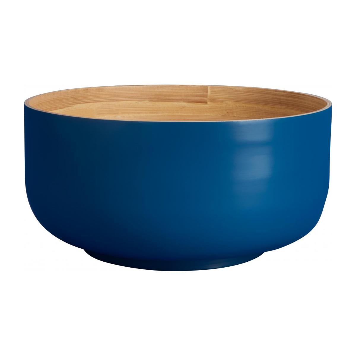 Grand Bowl made of bamboo 25cm, blue n°1