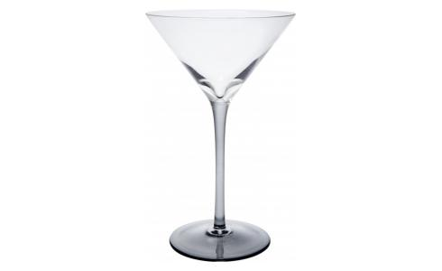 Martini glass made of smoked glass