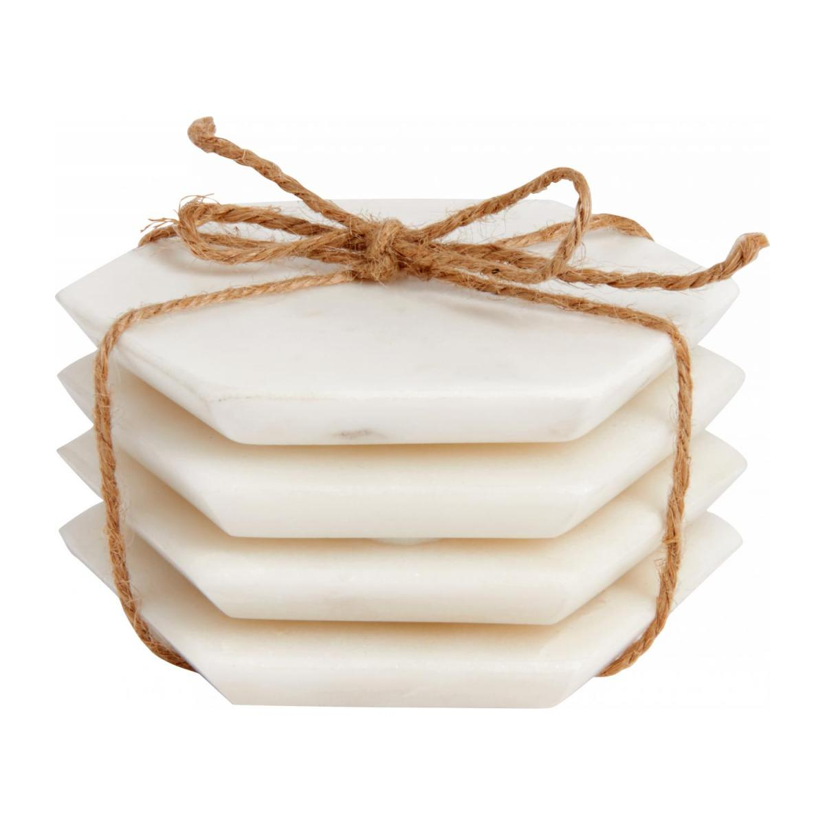 Set of 4 coasters made of marble n°1