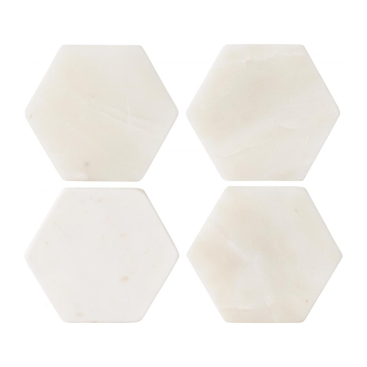 Set of 4 coasters made of marble n°2
